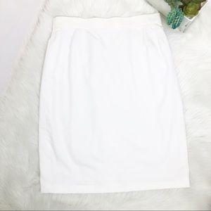 Escada white pencil skirt